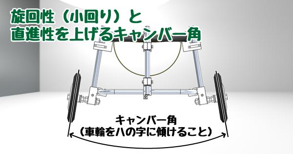 旋回性と直進性を上げるキャンバー角
